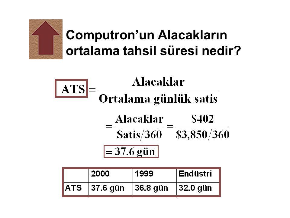 Computron'un Alacakların ortalama tahsil süresi nedir