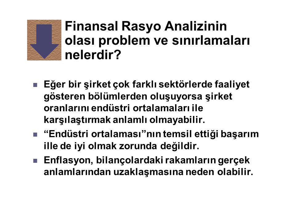 Finansal Rasyo Analizinin olası problem ve sınırlamaları nelerdir