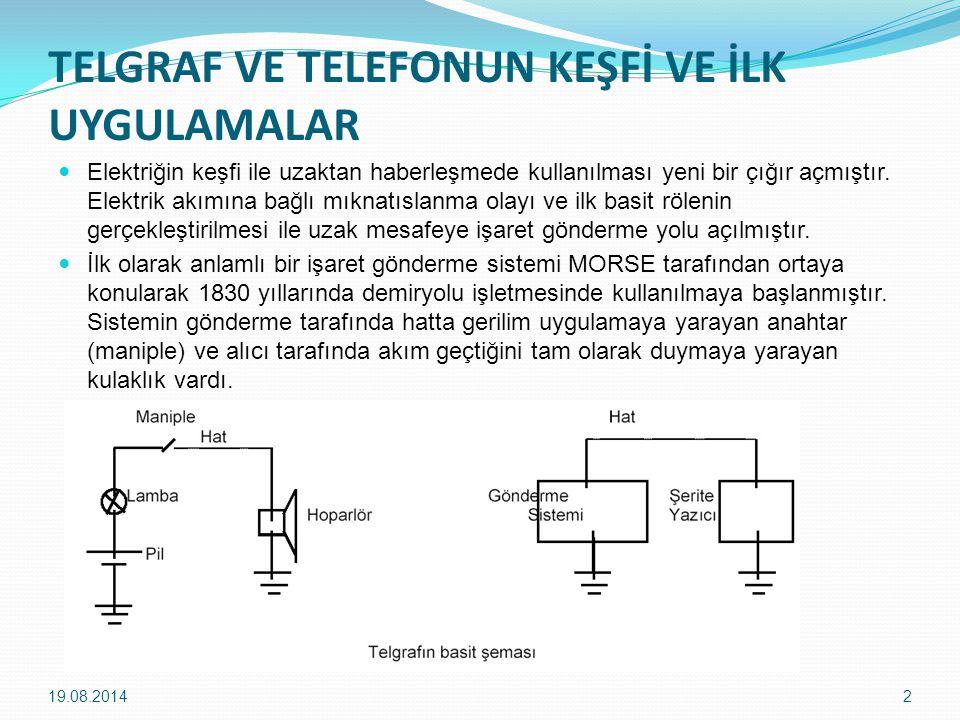 TELGRAF VE TELEFONUN KEŞFİ VE İLK UYGULAMALAR