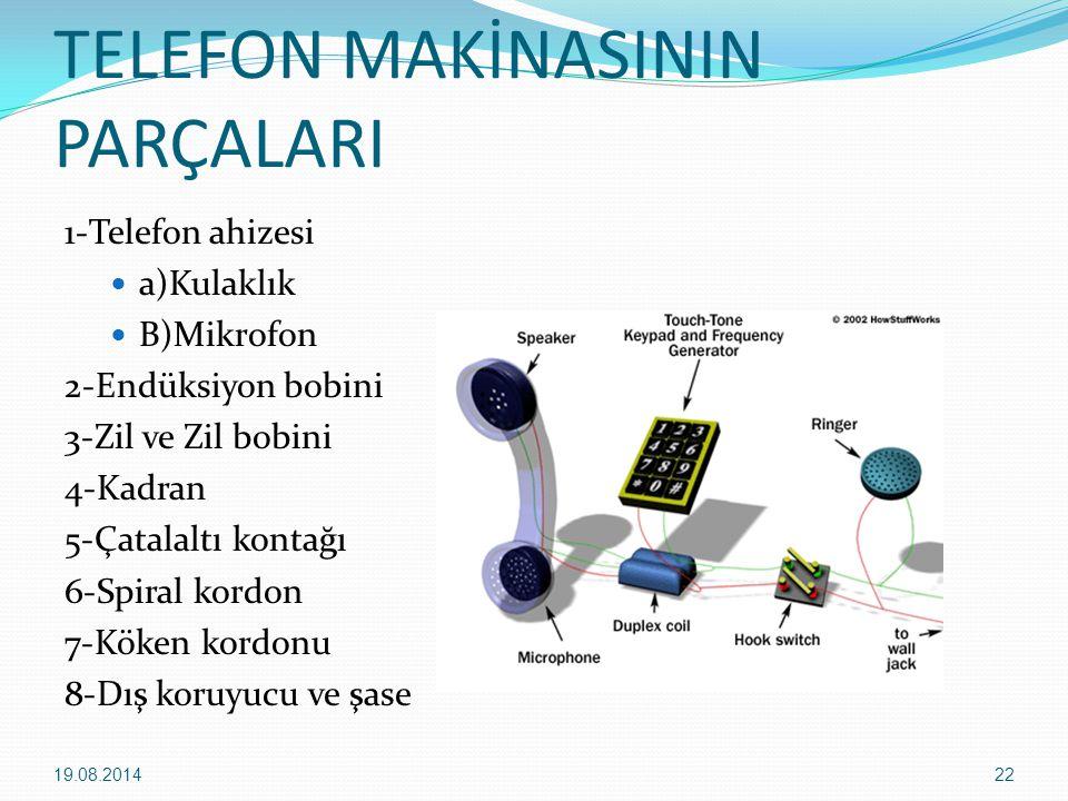 TELEFON MAKİNASININ PARÇALARI