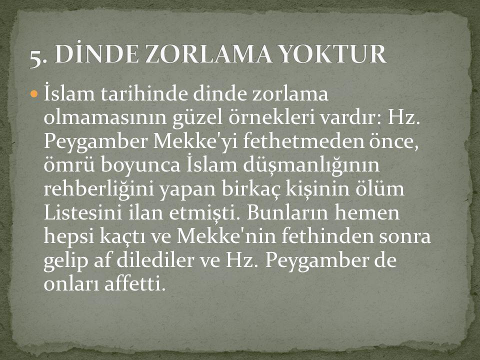 5. DİNDE ZORLAMA YOKTUR