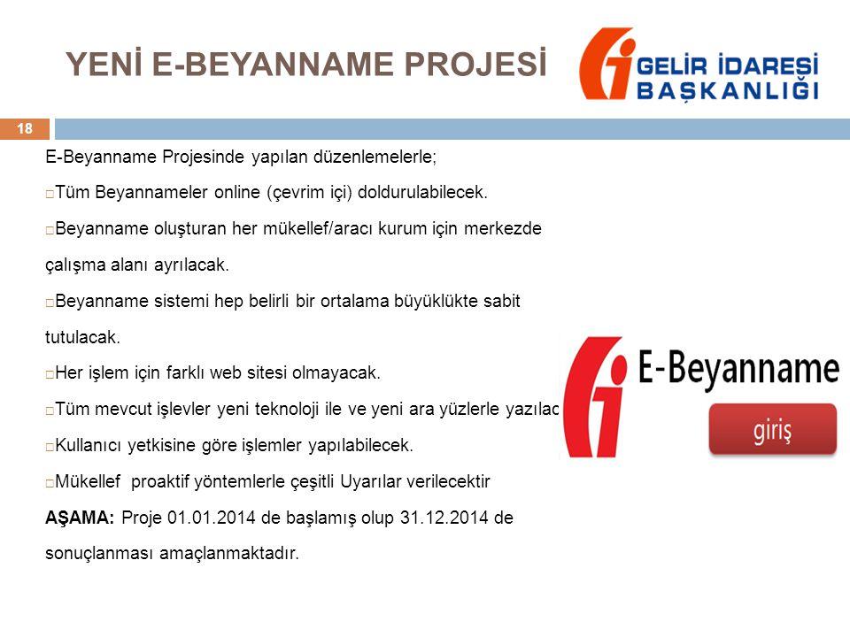 YENİ E-BEYANNAME PROJESİ