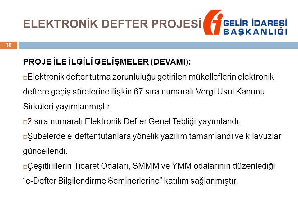 ELEKTRONİK DEFTER PROJESİ