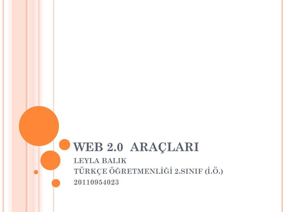 LEYLA BALIK TÜRKÇE ÖĞRETMENLİĞİ 2.SINIF (İ.Ö.) 20110954023