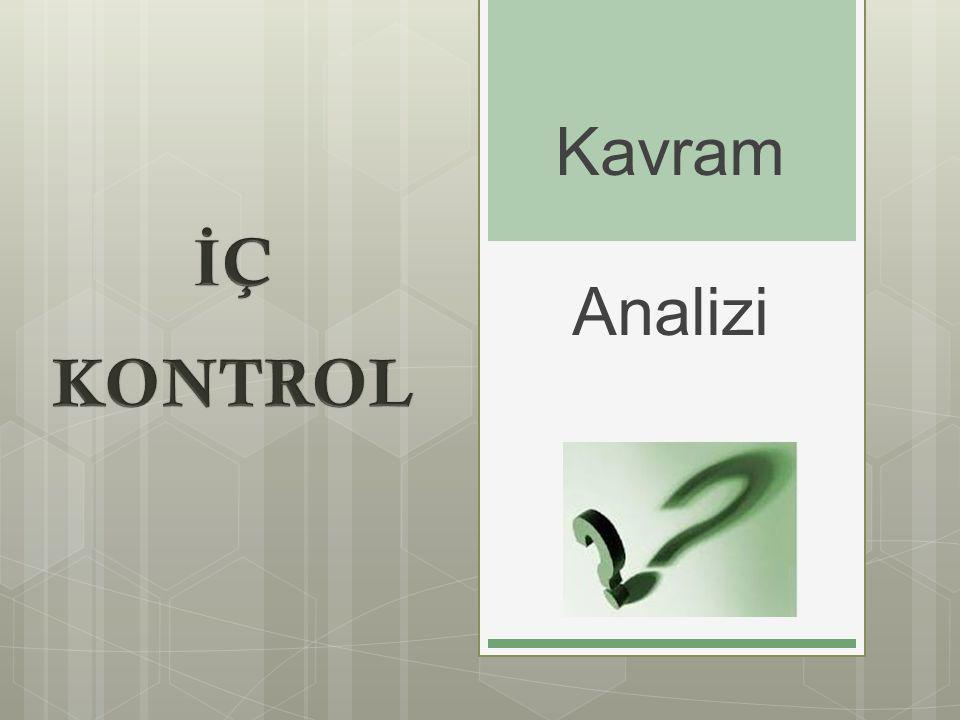 Kavram Analizi İÇ KONTROL