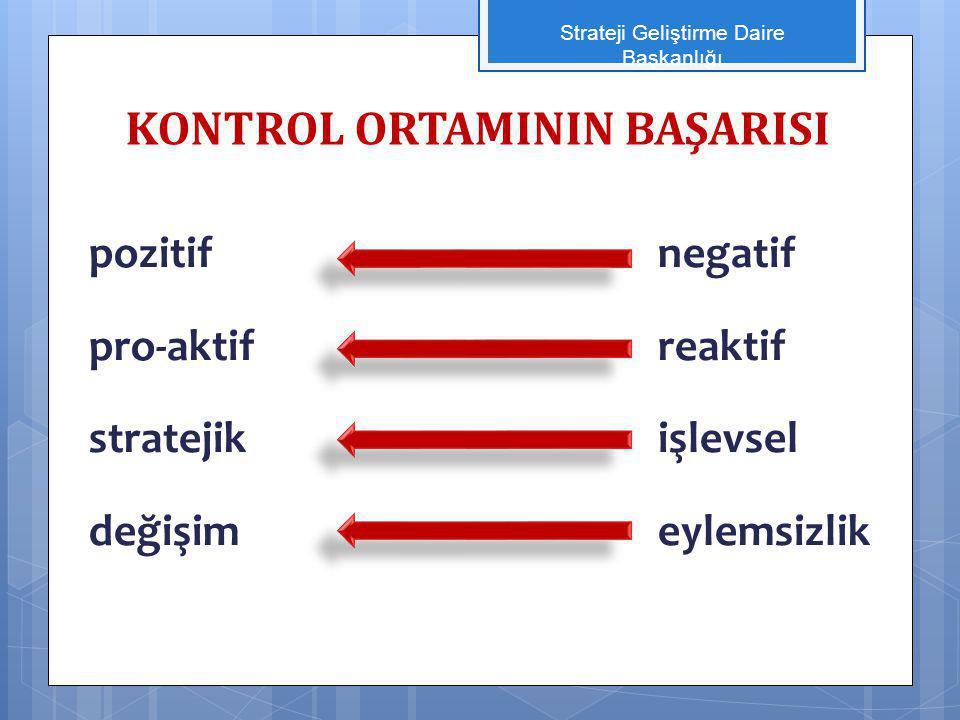 KONTROL ORTAMININ BAŞARISI