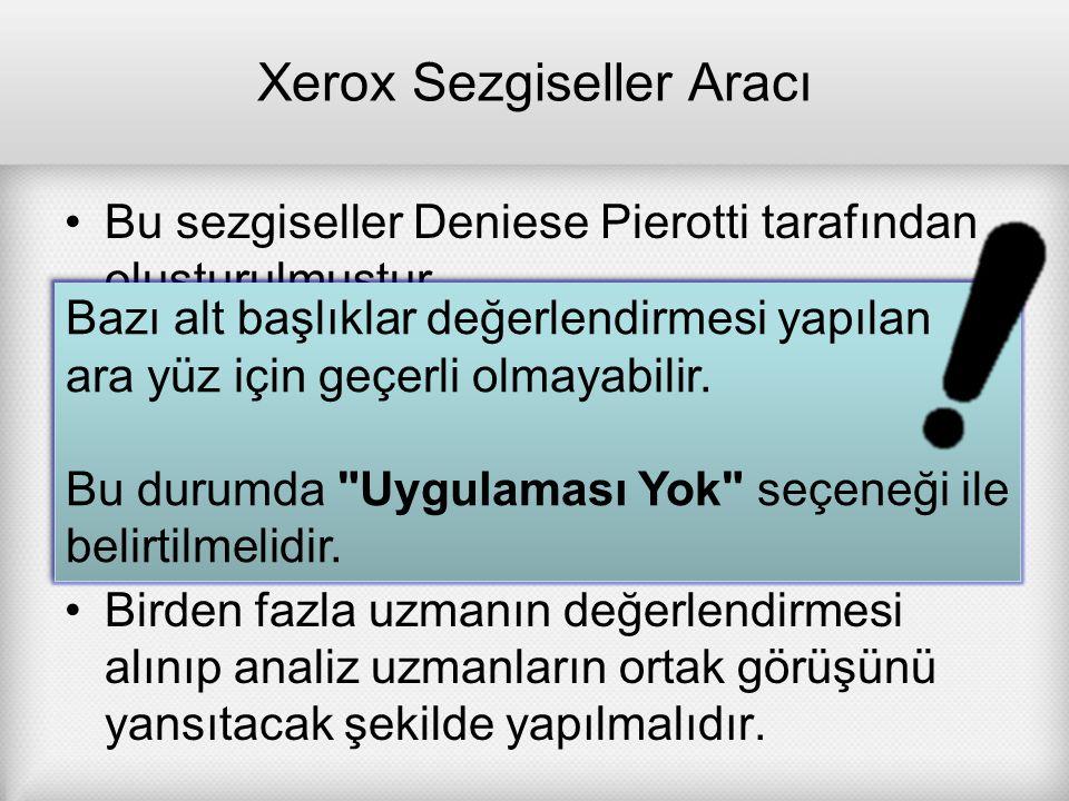 Xerox Sezgiseller Aracı