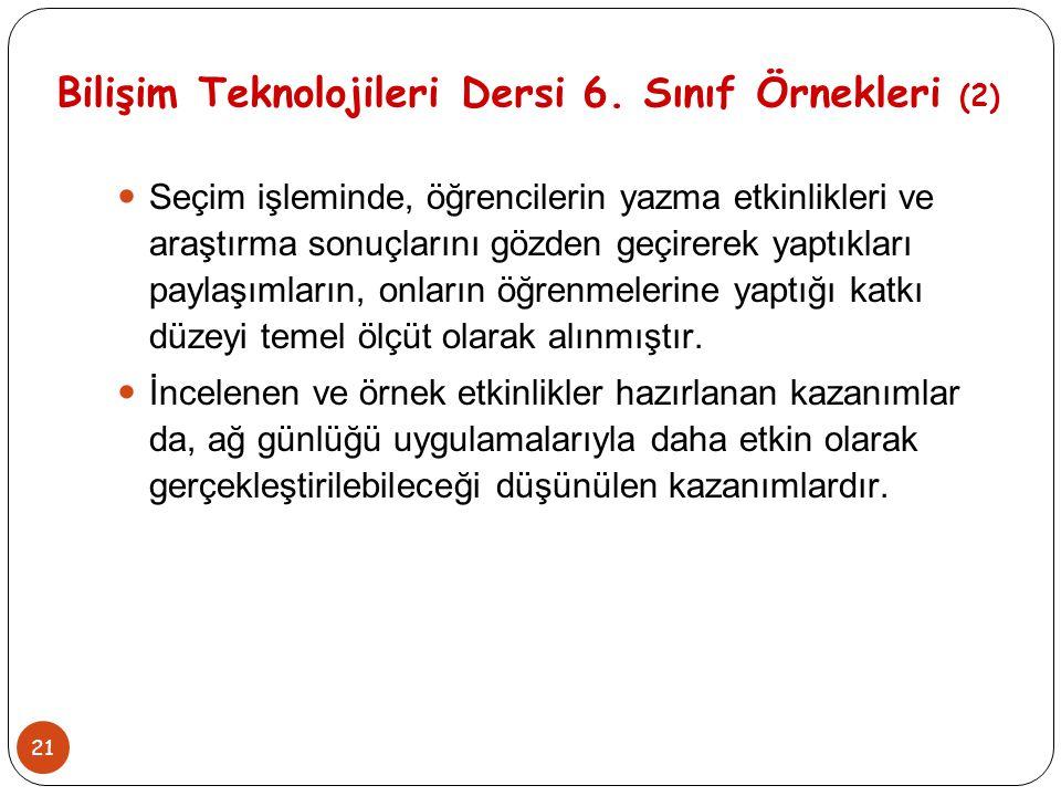 Bilişim Teknolojileri Dersi 6. Sınıf Örnekleri (2)