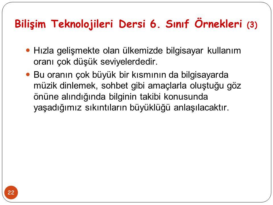Bilişim Teknolojileri Dersi 6. Sınıf Örnekleri (3)