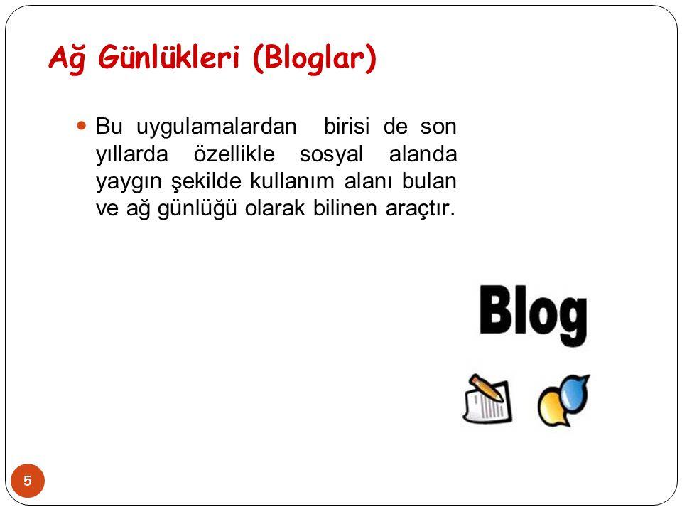 Ağ Günlükleri (Bloglar)