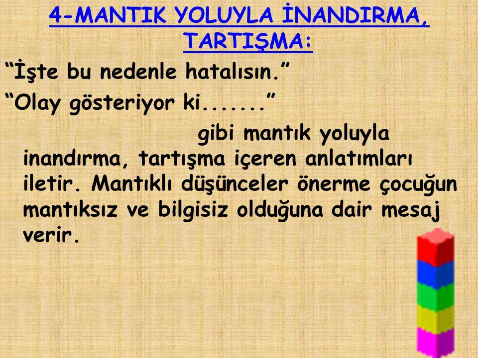 4-MANTIK YOLUYLA İNANDIRMA, TARTIŞMA: