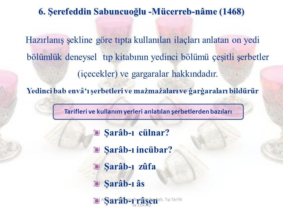 6. Şerefeddin Sabuncuoğlu -Mücerreb-nâme (1468)