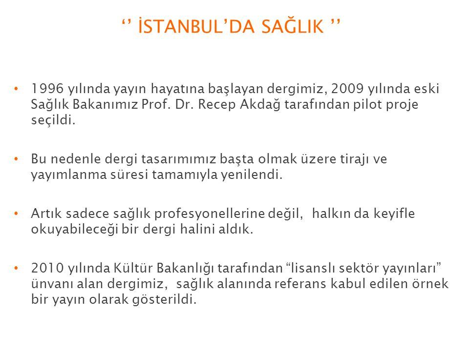 '' İSTANBUL'DA SAĞLIK ''