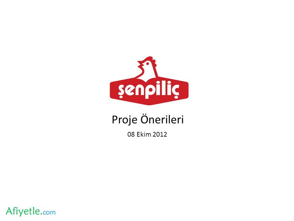 Proje Önerileri 08 Ekim 2012