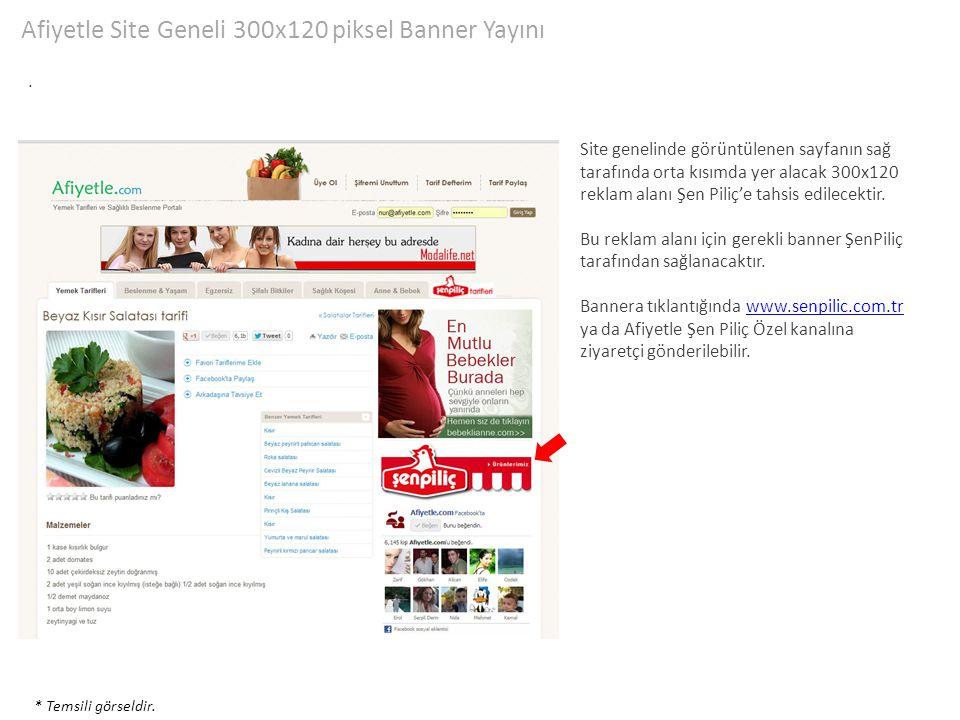 Afiyetle Site Geneli 300x120 piksel Banner Yayını