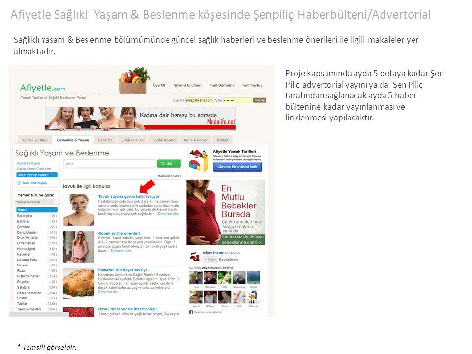 Afiyetle Sağlıklı Yaşam & Beslenme köşesinde Şenpiliç Haberbülteni/Advertorial