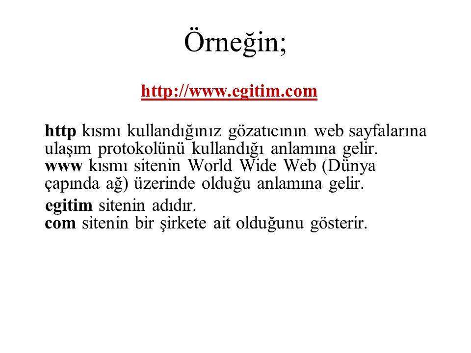 Örneğin; http://www.egitim.com