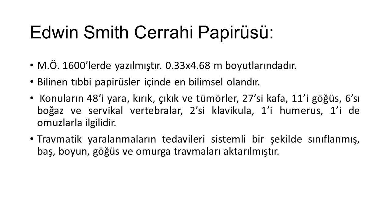 Edwin Smith Cerrahi Papirüsü:
