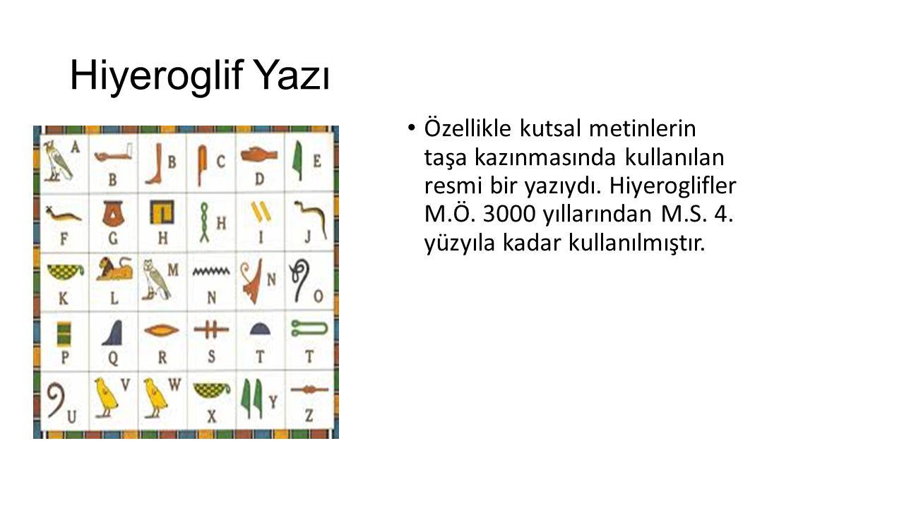 Hiyeroglif Yazı