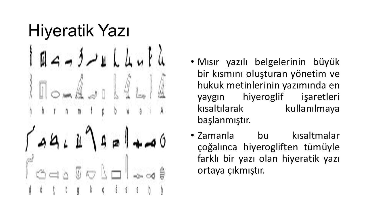 Hiyeratik Yazı