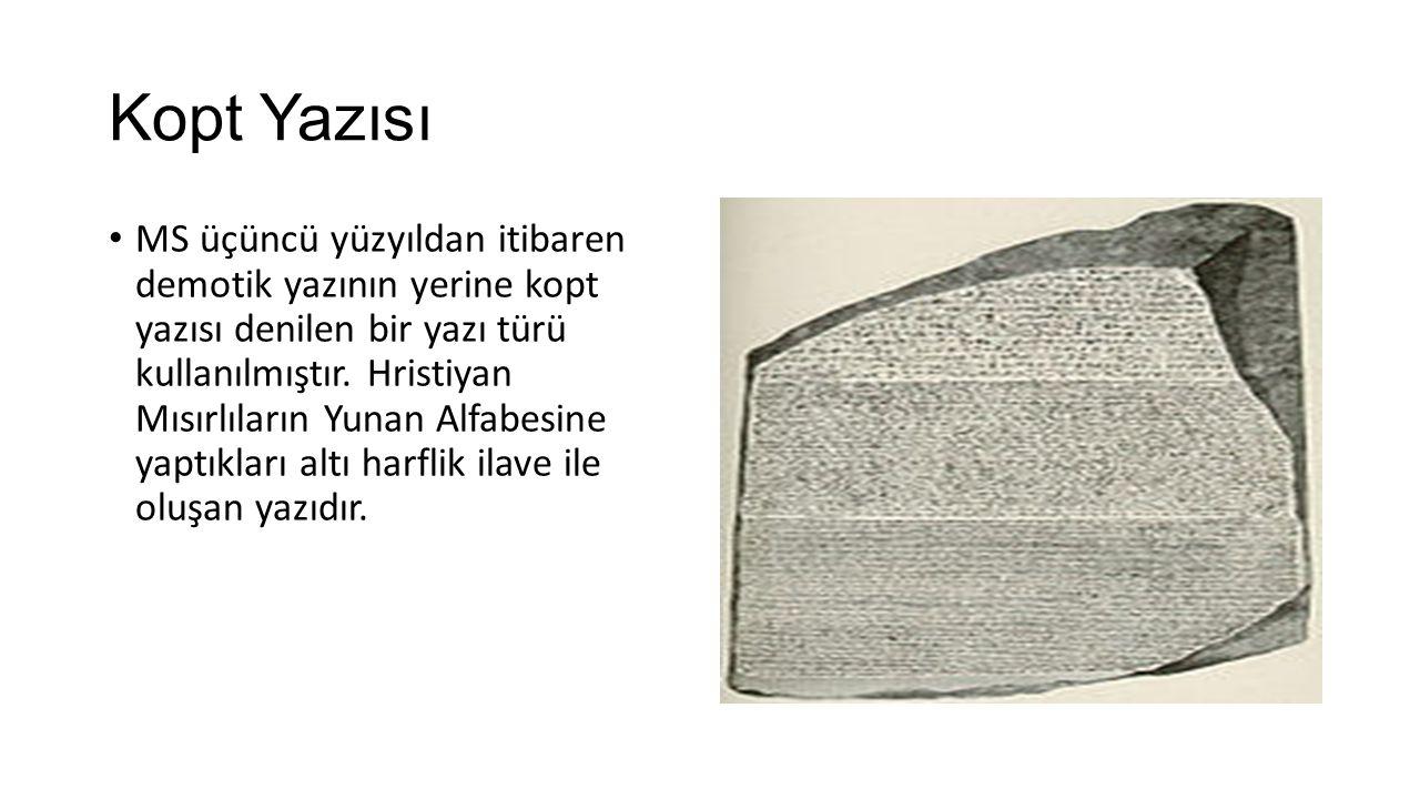 Kopt Yazısı