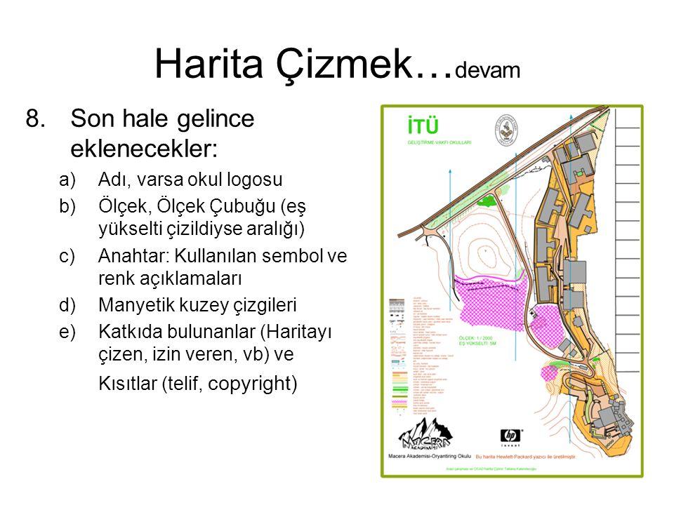 Harita Çizmek…devam Son hale gelince eklenecekler: