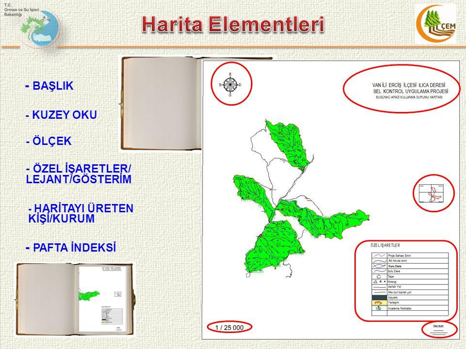 Harita Elementleri - BAŞLIK - PAFTA İNDEKSİ
