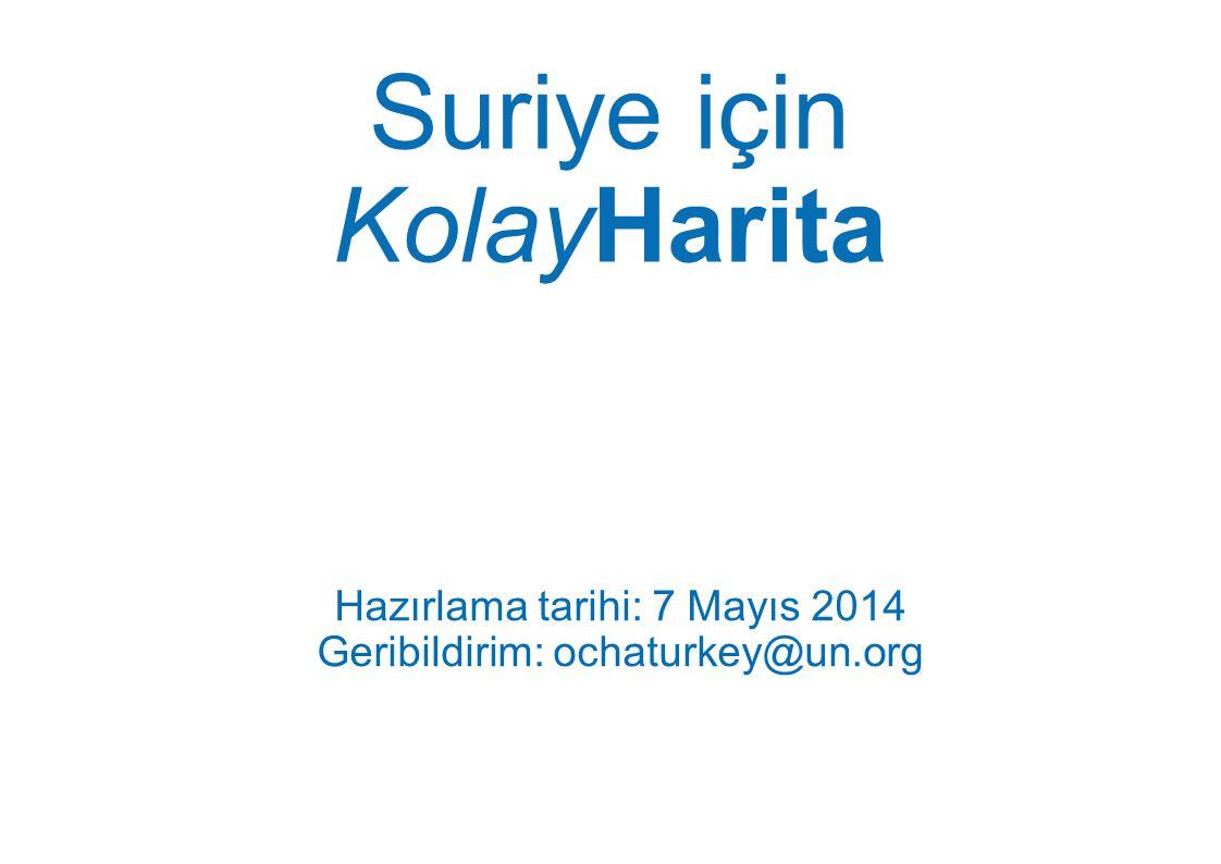 Suriye için KolayHarita
