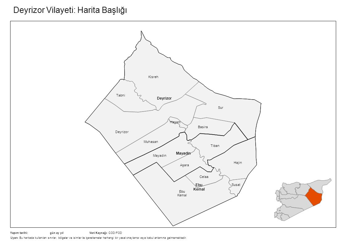 Deyrizor Vilayeti: Harita Başlığı