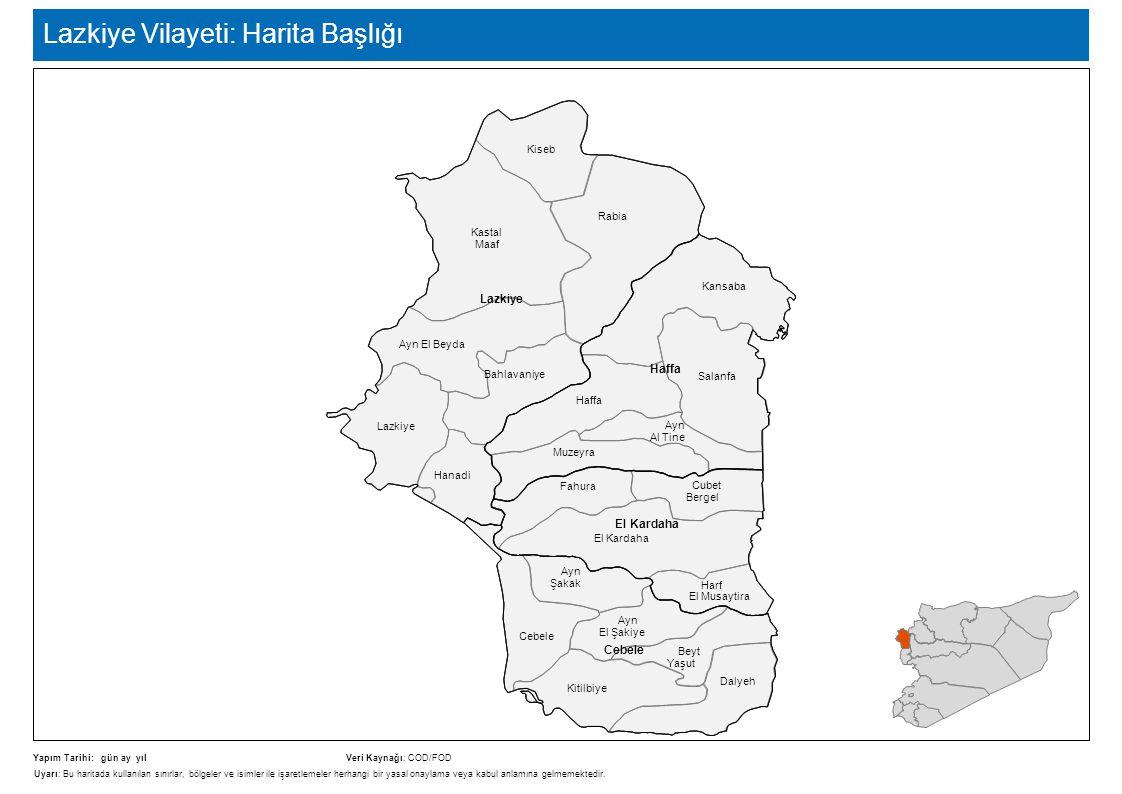 Lazkiye Vilayeti: Harita Başlığı