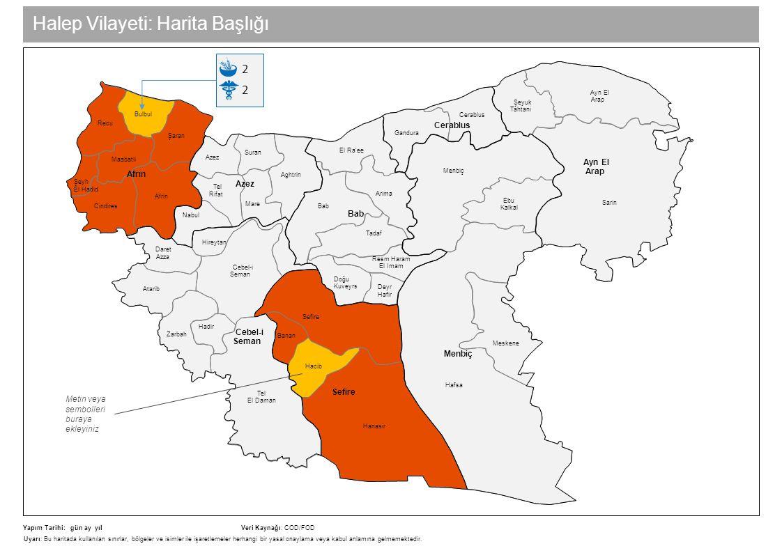 Halep Vilayeti: Harita Başlığı