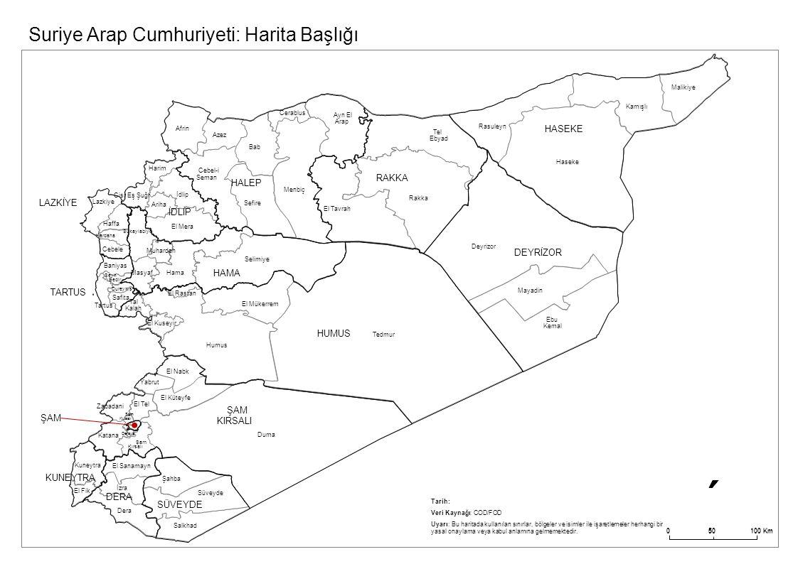 Suriye Arap Cumhuriyeti: Harita Başlığı