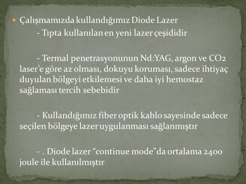 Çalışmamızda kullandığımız Diode Lazer