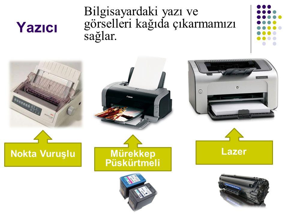 Yazıcı Bilgisayardaki yazı ve görselleri kağıda çıkarmamızı sağlar.