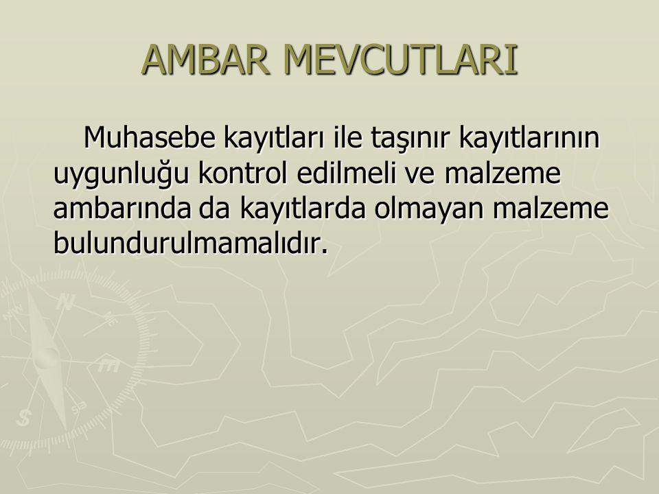 AMBAR MEVCUTLARI