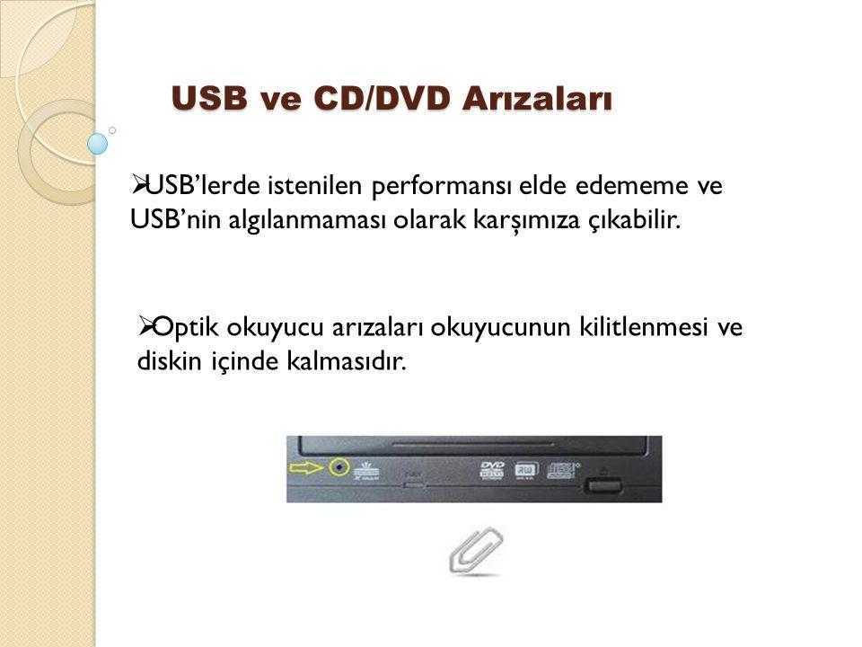 USB ve CD/DVD Arızaları
