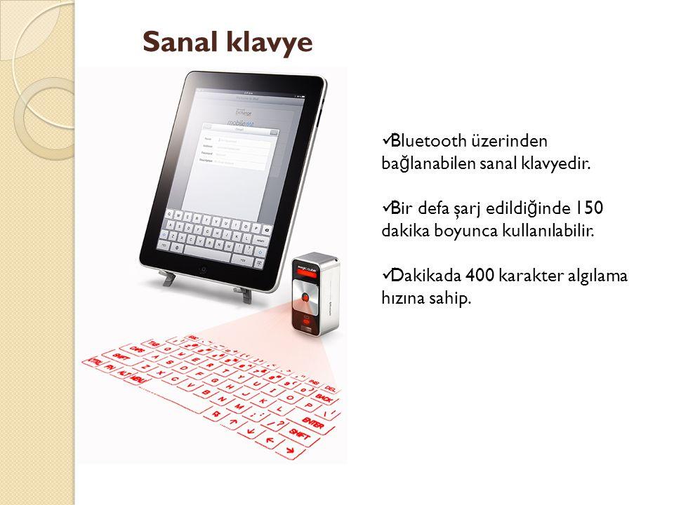 Sanal klavye Bluetooth üzerinden bağlanabilen sanal klavyedir.