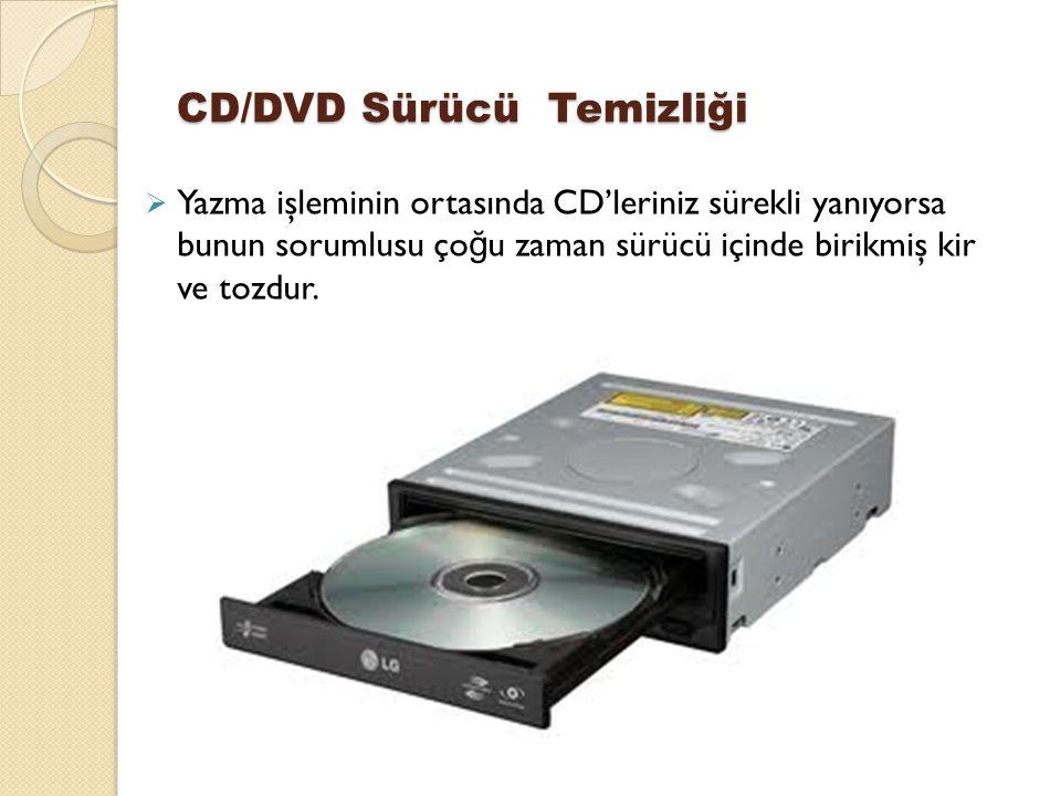 CD/DVD Sürücü Temizliği