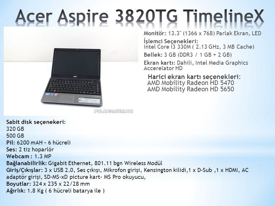 Acer Aspire 3820TG TimelineX