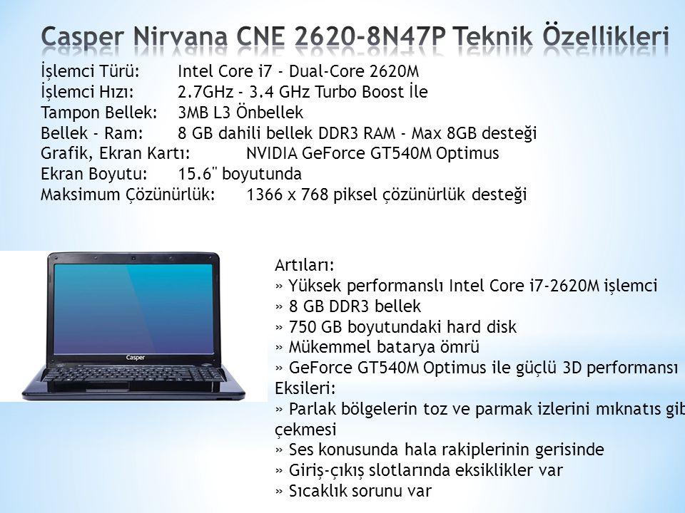 Casper Nirvana CNE 2620-8N47P Teknik Özellikleri