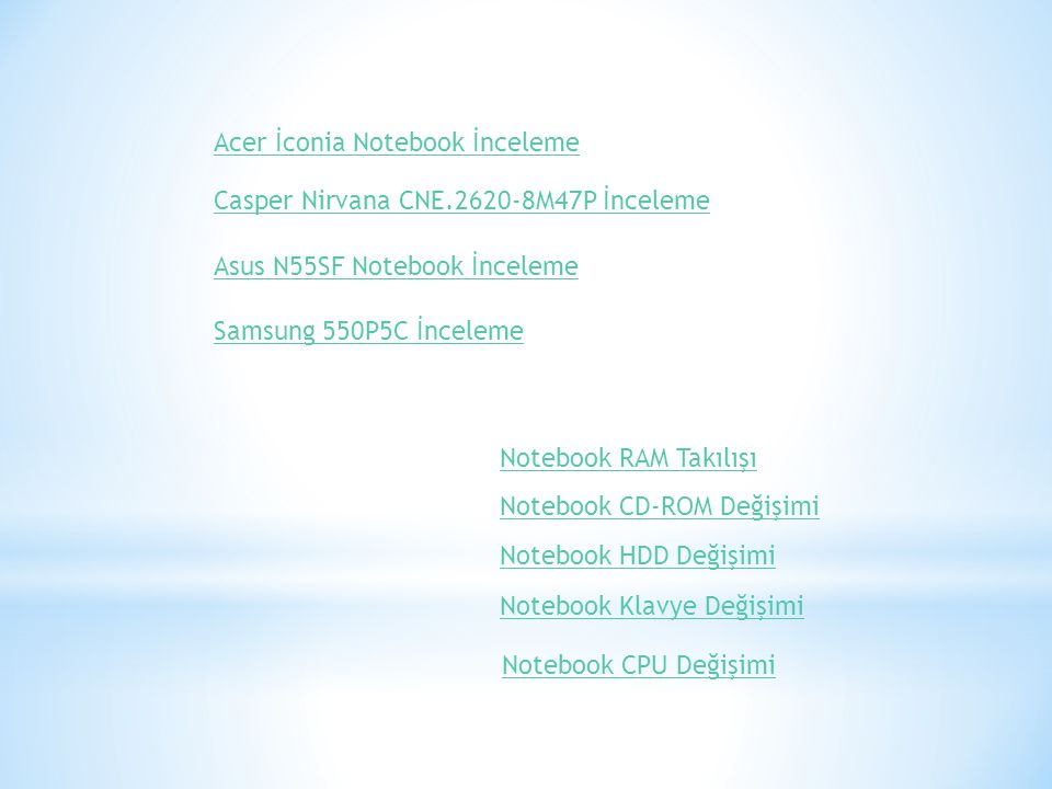 Acer İconia Notebook İnceleme