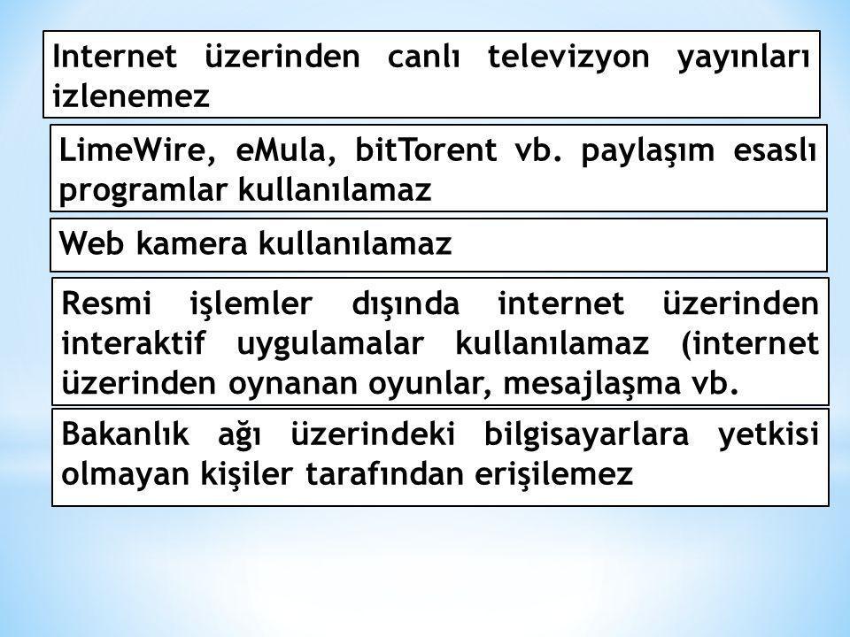 Internet üzerinden canlı televizyon yayınları izlenemez