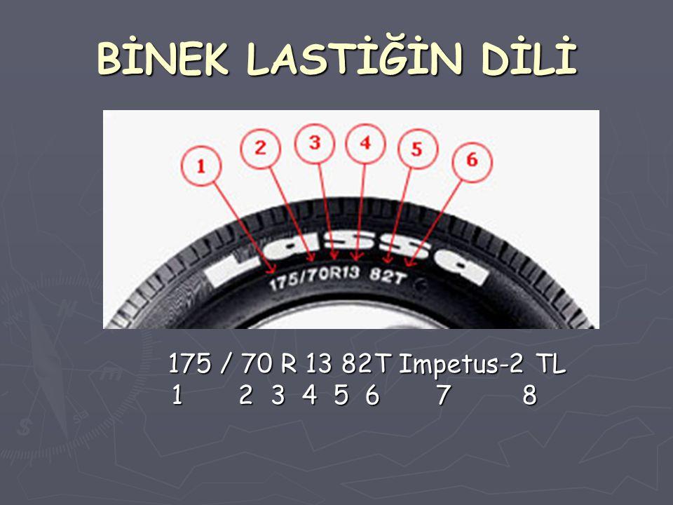 BİNEK LASTİĞİN DİLİ 175 / 70 R 13 82T Impetus-2 TL 1 2 3 4 5 6 7 8.