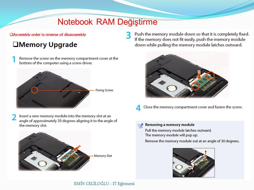 Notebook RAM Değiştirme
