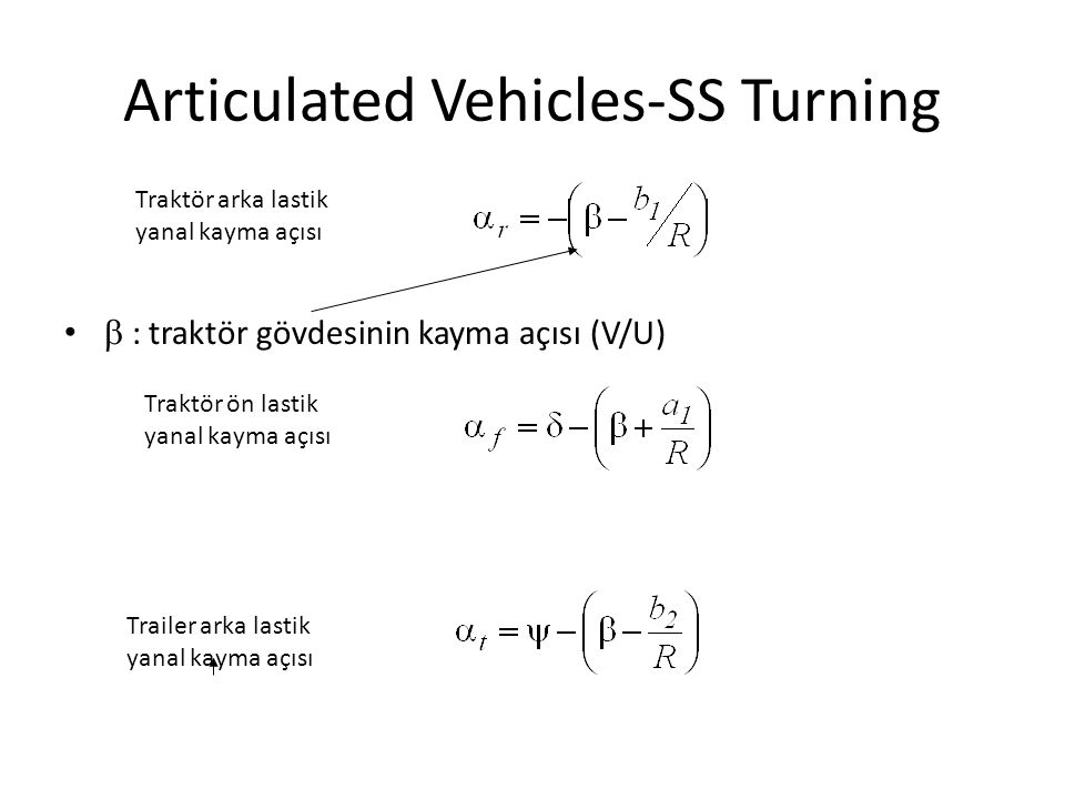 Articulated Vehicles-SS Turning