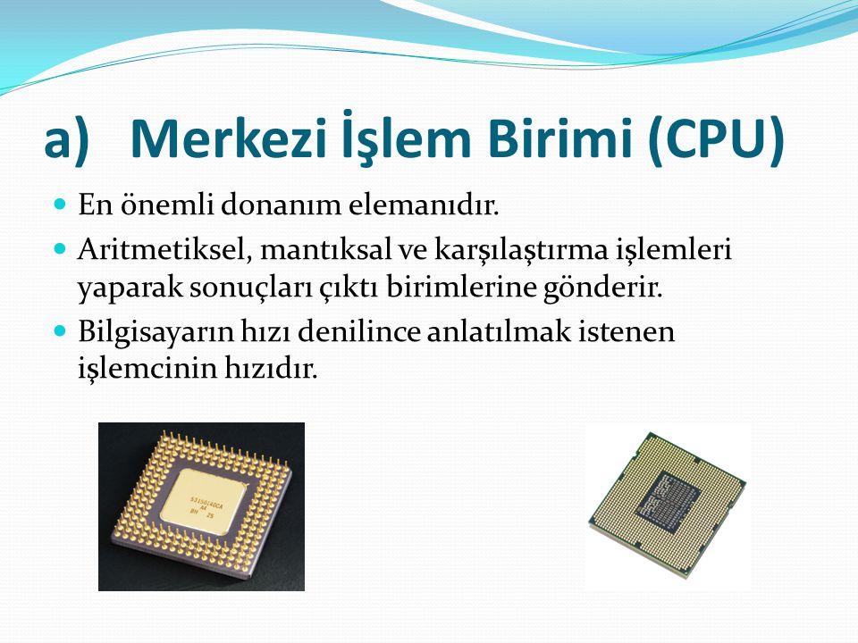 Merkezi İşlem Birimi (CPU)