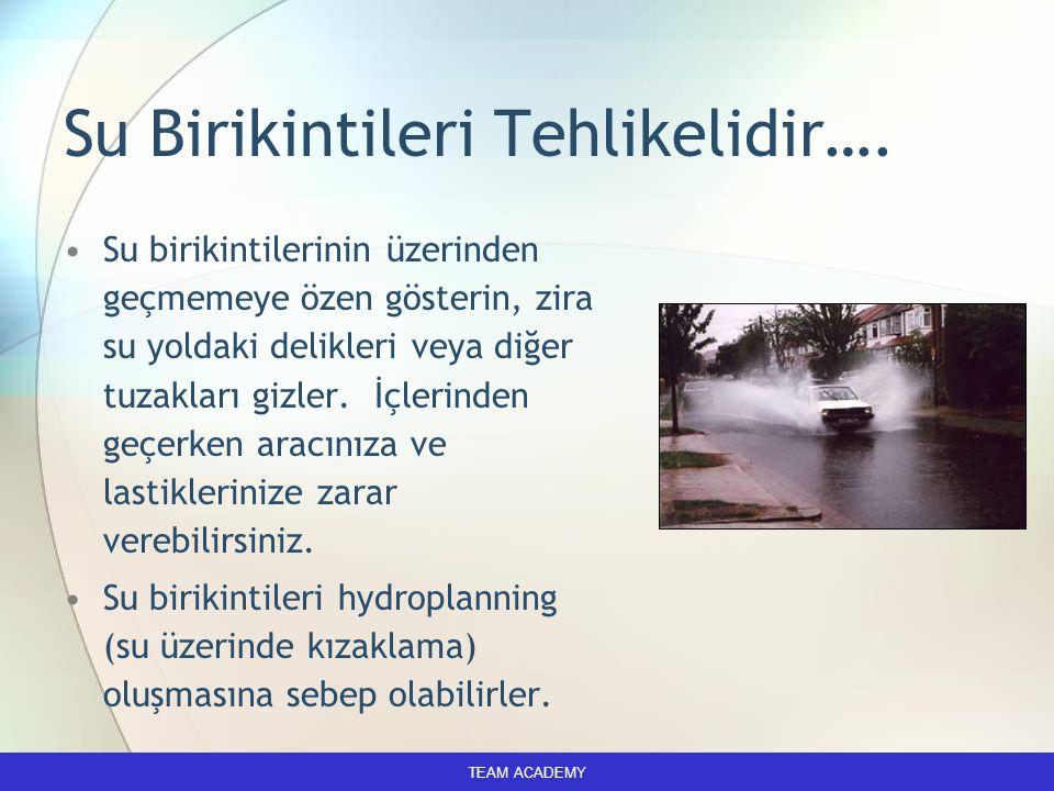 Su Birikintileri Tehlikelidir….