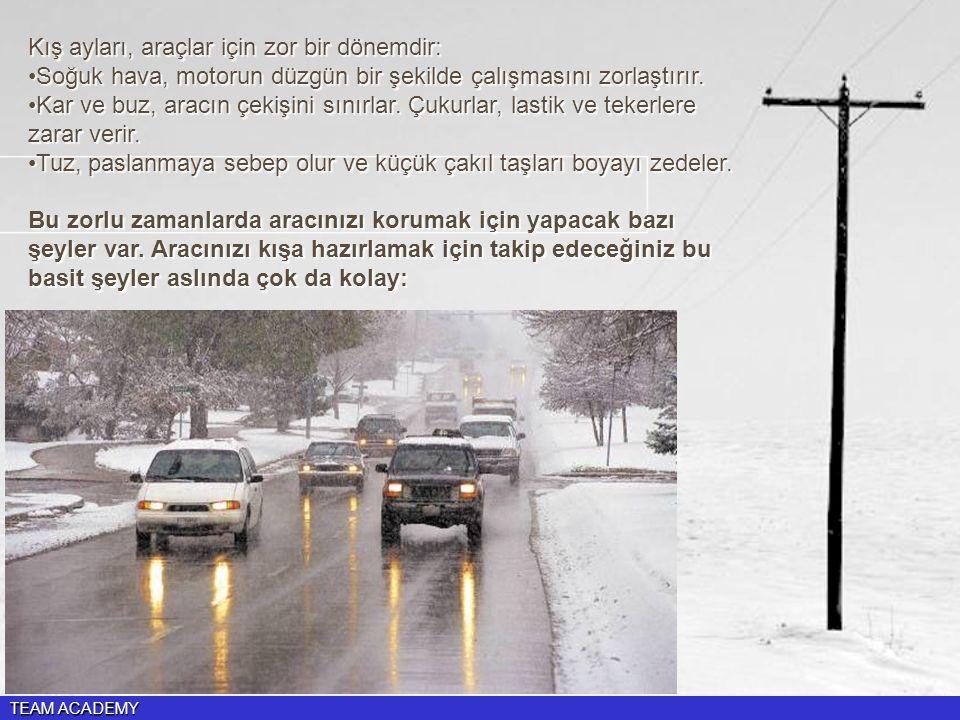 Kış ayları, araçlar için zor bir dönemdir: