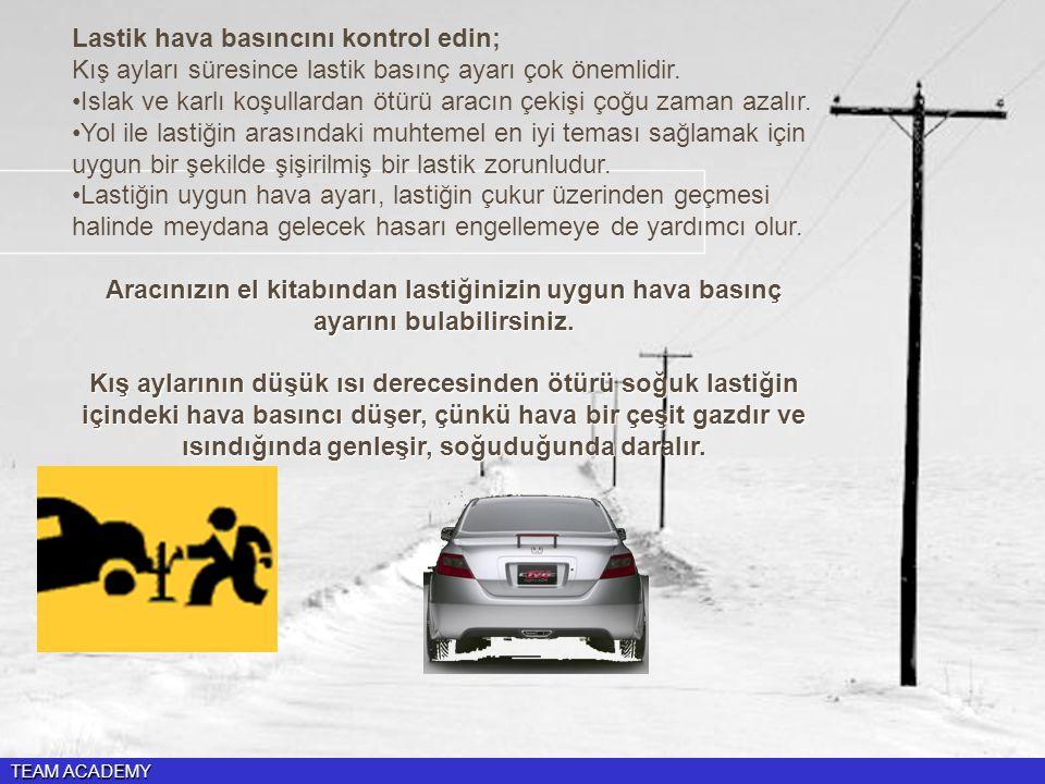 Islak ve karlı koşullardan ötürü aracın çekişi çoğu zaman azalır.