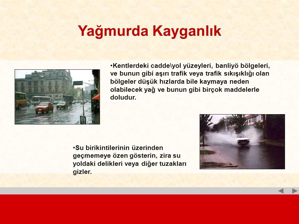 Yağmurda Kayganlık